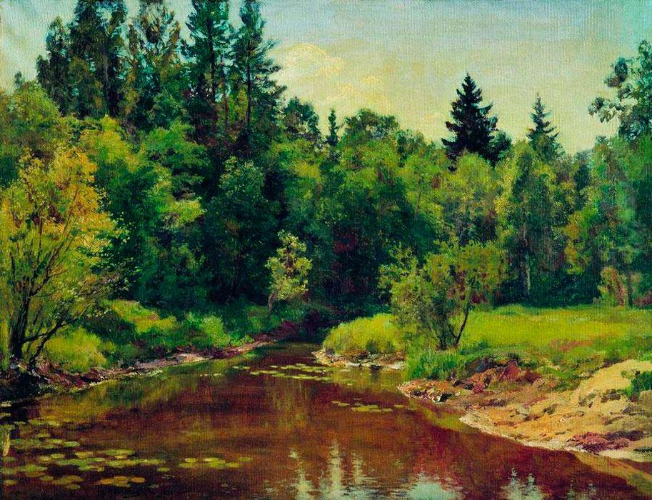 Лесная река, 1909, Государственный Русский музей.jpg