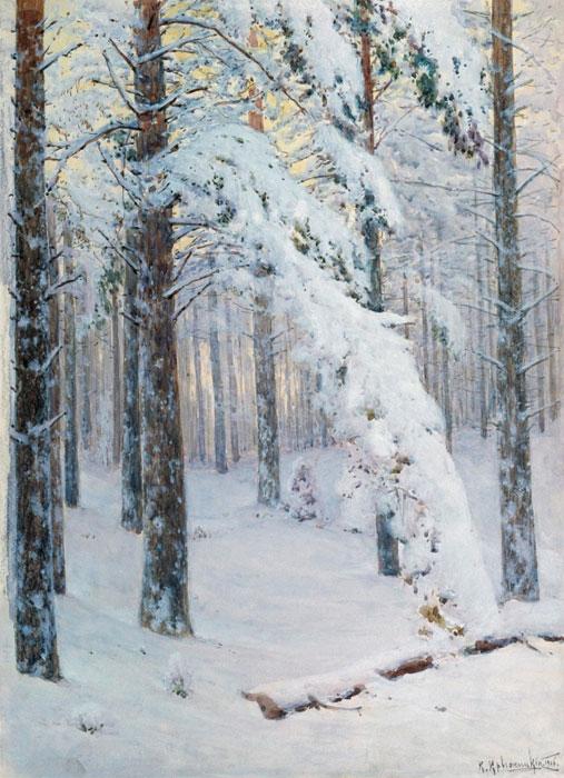 Лес зимой, 1906, Омский областной музей изобразительных искусств им. М.А.Врубеля.jpg