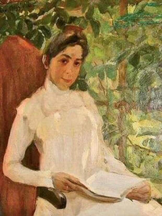 Италия, 1899 г.портрет Перцовой З.А.  кисти художника  К.Ф.Юон