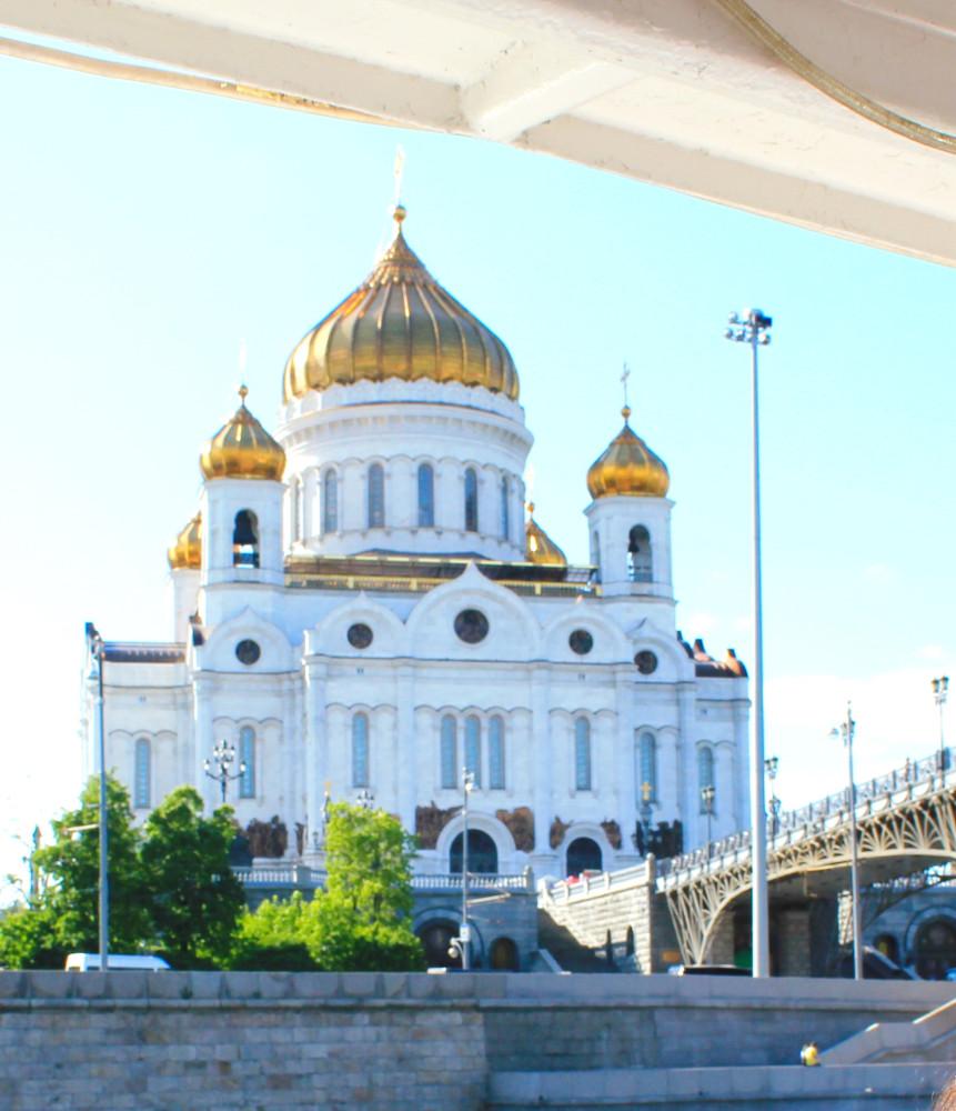 Храм Христа Спасителя с теплохода