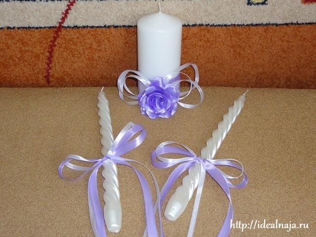 Как украсит свечи своими руками на свадьбу