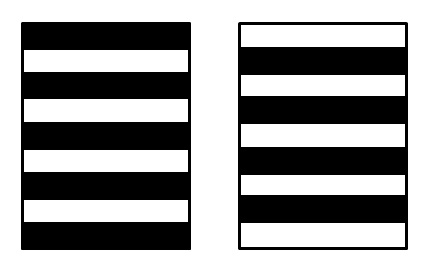 Вертикальная и горизонтальная полоски размещаемые вдоль правого