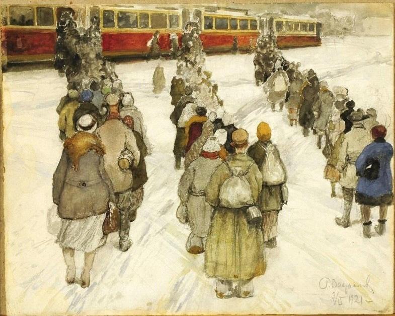 ochered' na tramvaj