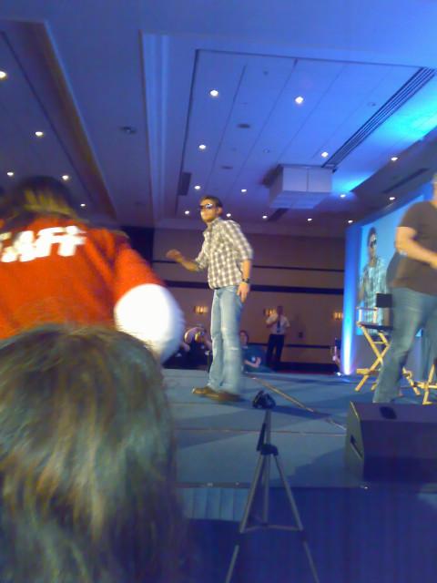 Jensen poses