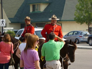 Obligatory shot of Mounties