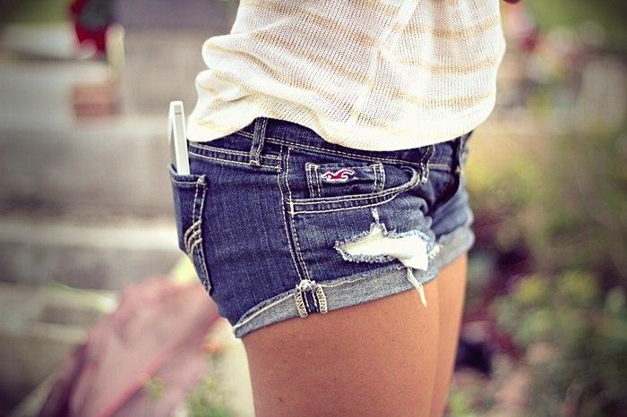 фотосессия девушек в шортах