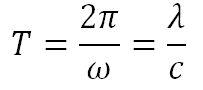 Формула периода свободных колебаний