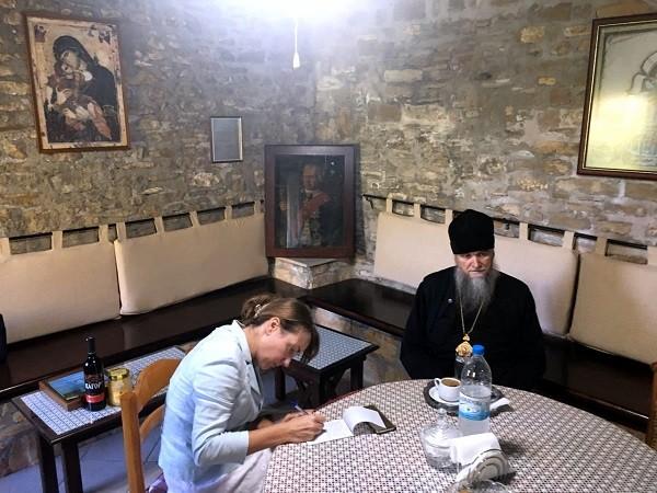 Корфу. В монастыре Богородицы Высокой мал