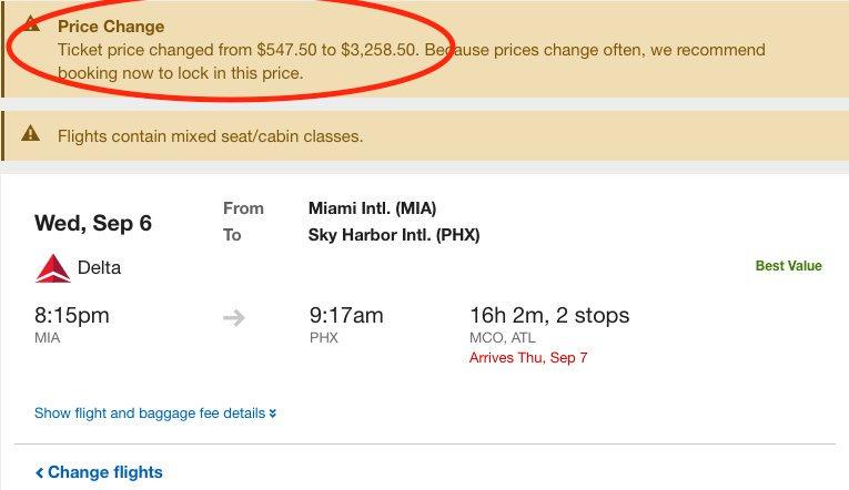 Delta взвинтила цены на вылеты из Майами