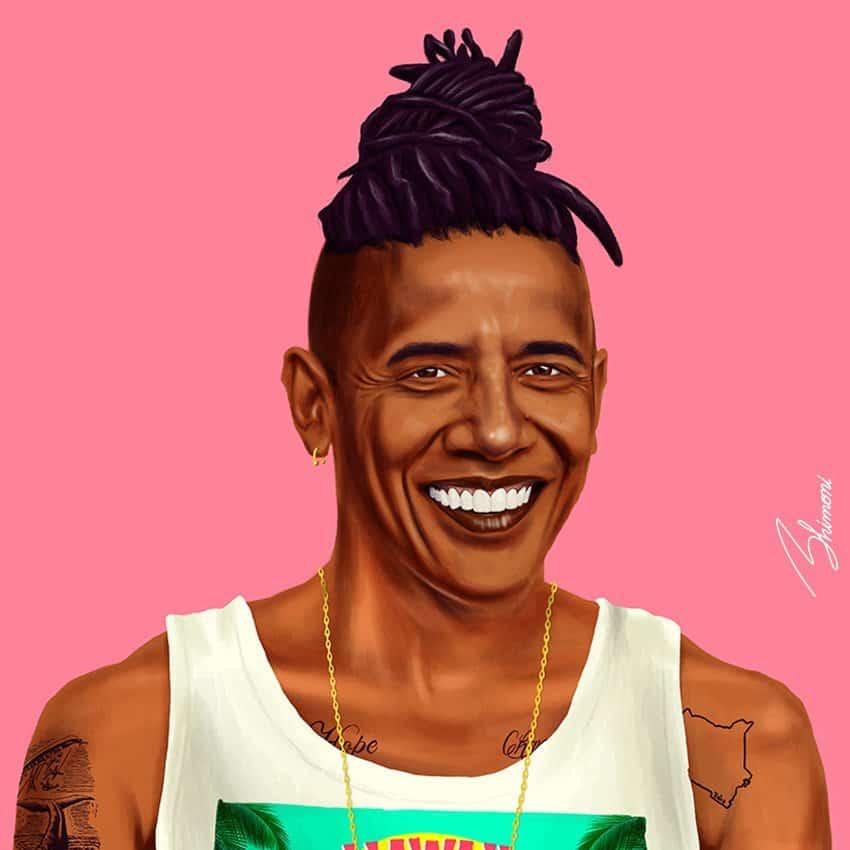 02. Обама-хипстер