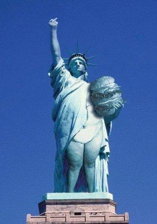 статуя жирноты