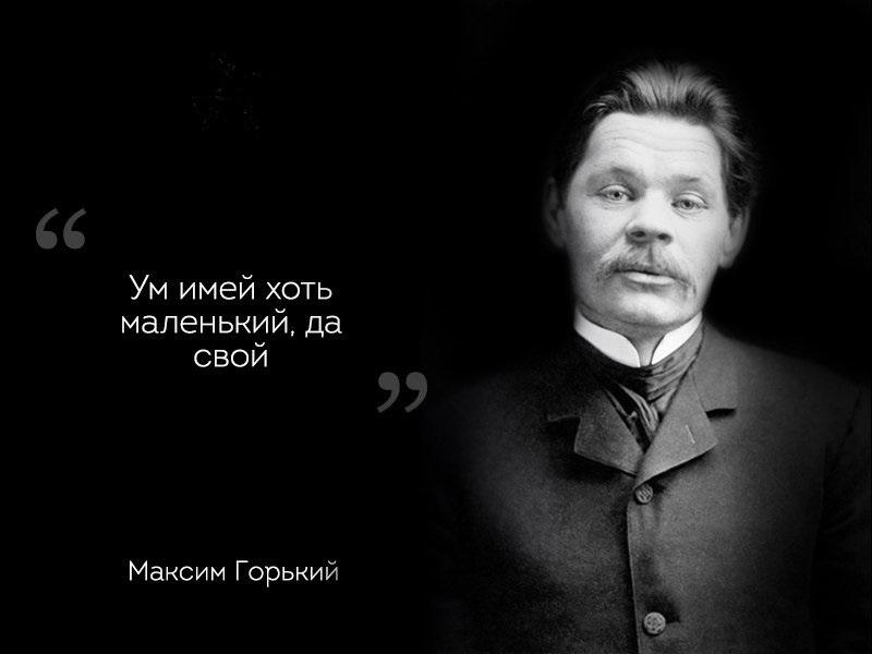 цитата Горького об уме