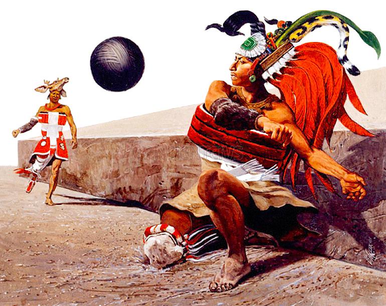 игра в мяч у майя