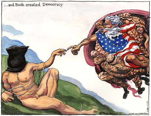 и создал Буш демократию