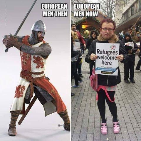 европеец раньше и теперь