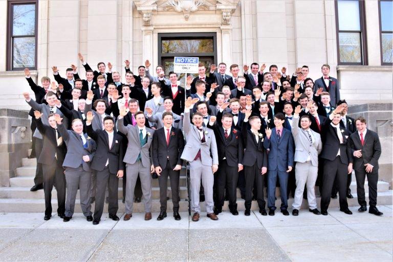 зигующие выпускники Висконсин