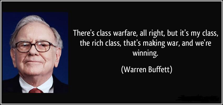 цитата Баффета о классовой борьбе