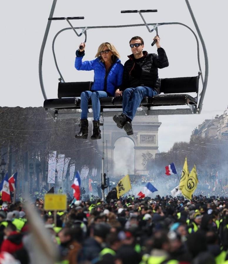 Макрон и протесты