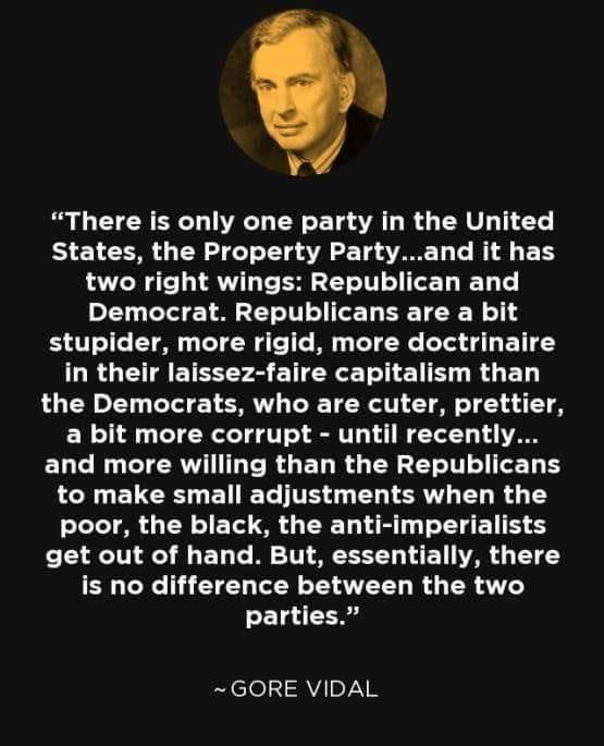 Гор Видал о партиях США