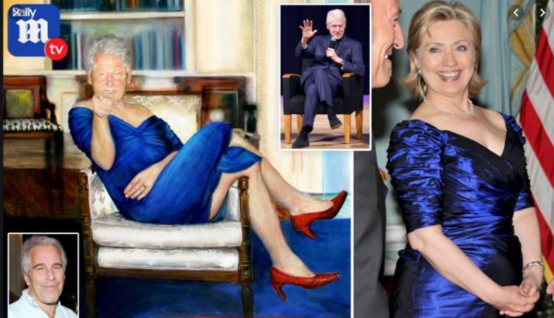 Билл Клинтон в платье