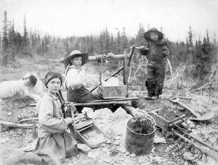 золотой прииск, 1898 год, Юкон, Канада