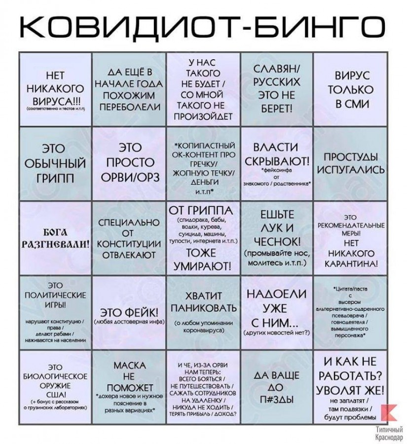 ковидиот-бинго