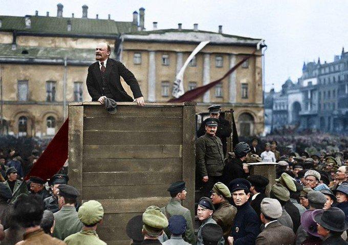 Ленин на митинге 5 мая 1920