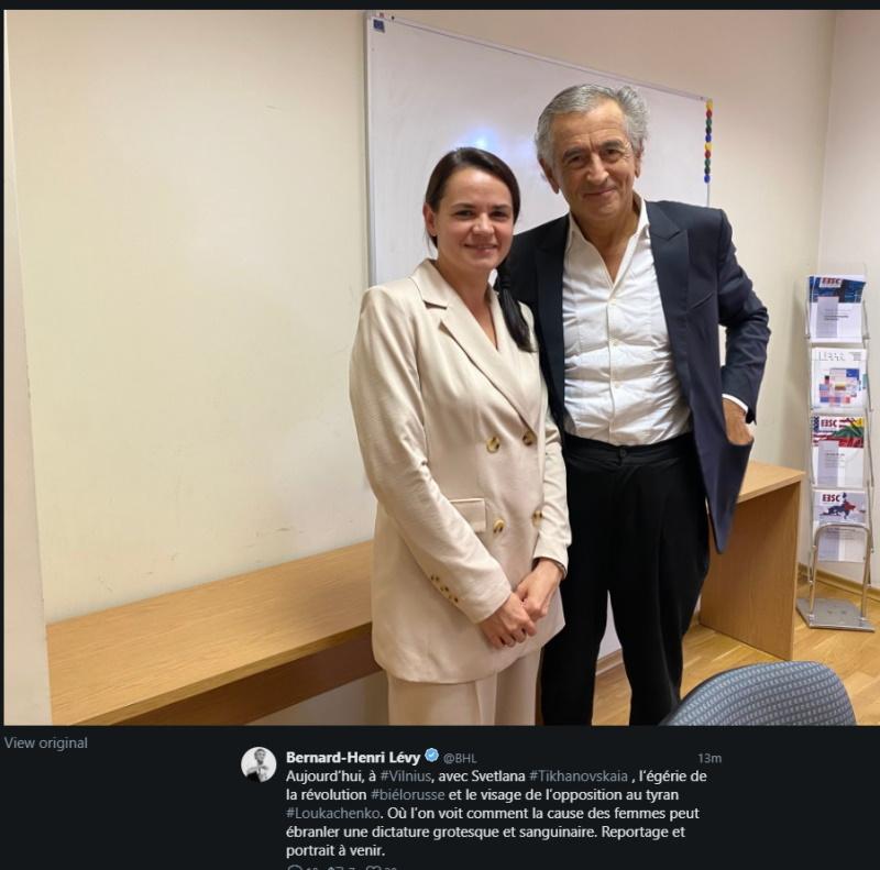 Тихановская и Бернар-Анри Леви