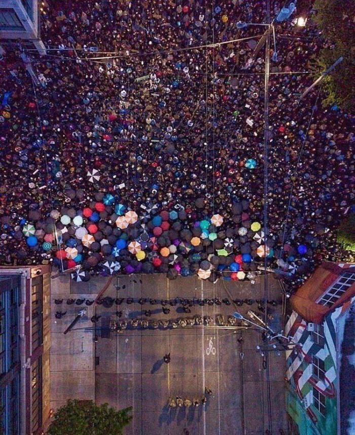 массовые протесты в Сиэтле