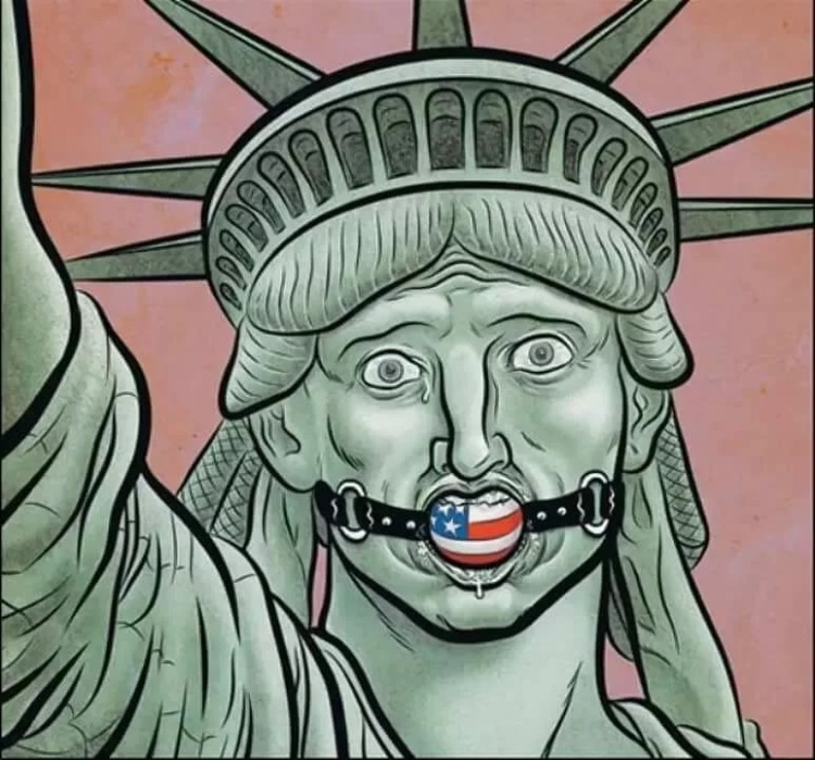 свобода с кляпом во рту