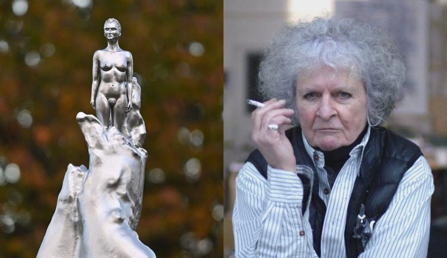 памятник Мэри Уоллстоункрафт и его авторка