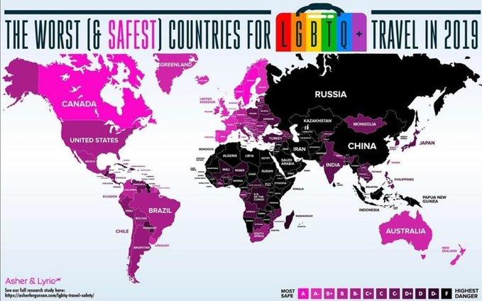 страны, опасные для пидаров