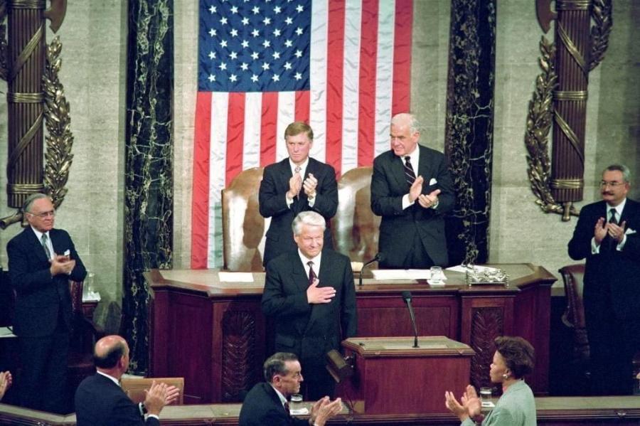 Ельцин в Конгрессе США, 17 июня 1992