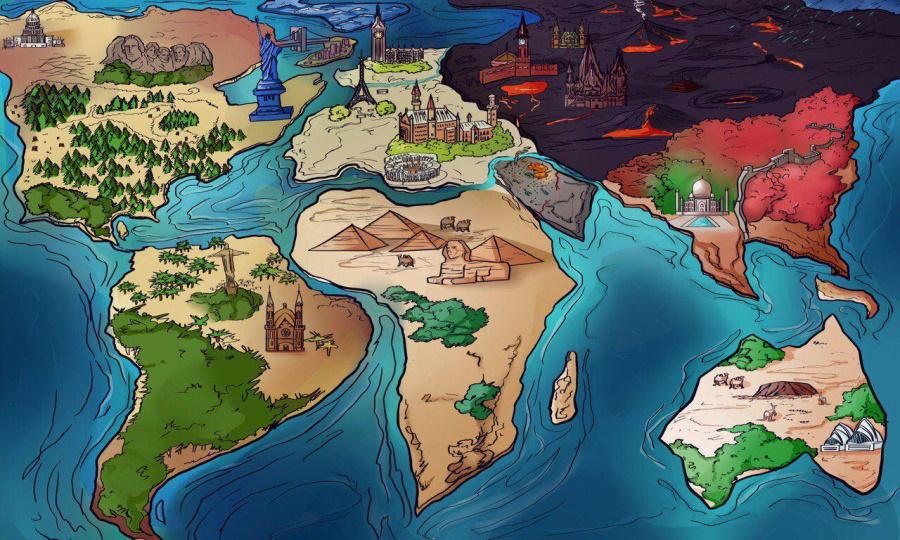 карта мира глазами либероты
