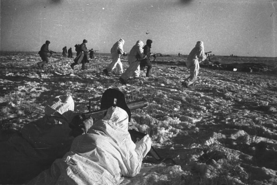 бойцы РККА зимой