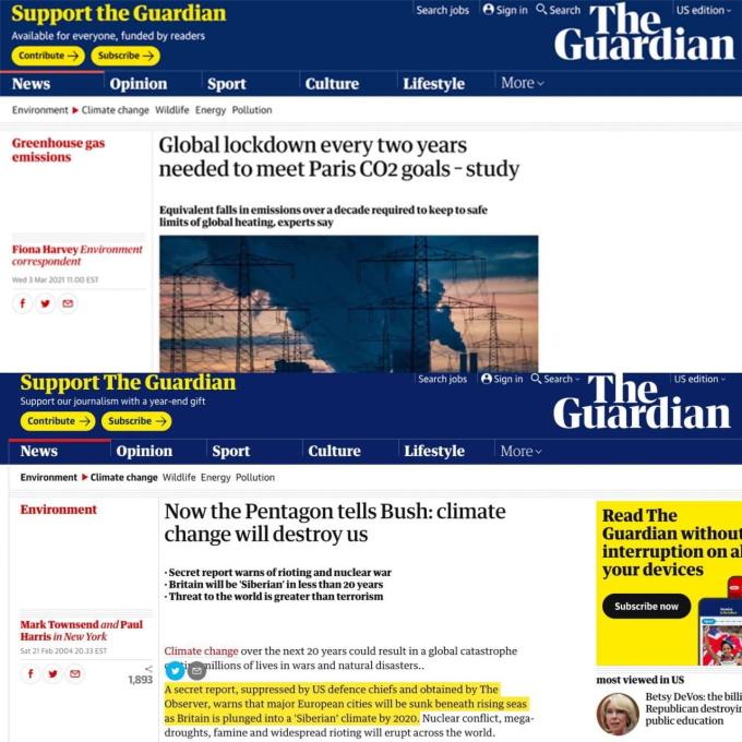 The Guardian о глобальном потеплении
