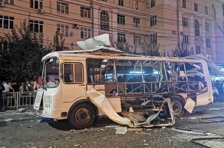 взорвавшийся автобус в Воронеже
