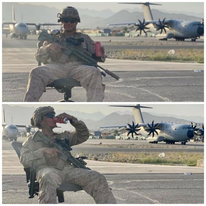морпех США в аэропорту Кабула, август 2021