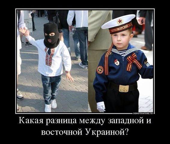 разница между восточной и западной Украиной