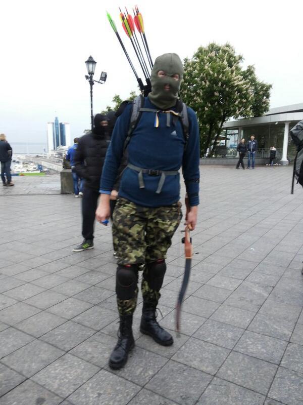 бандеровский лучник в Одессе