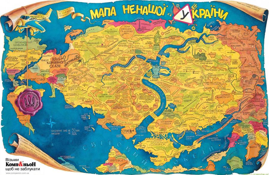 мапа ненашои краины
