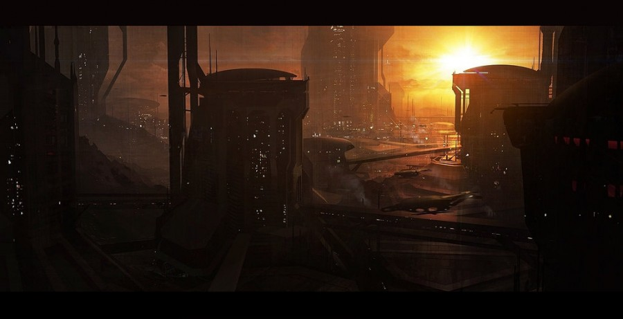Scifi_city_speed_by_AndreeWallin