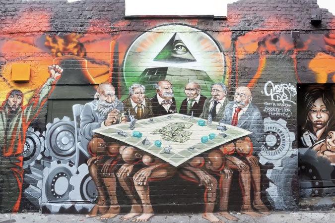 фреска Mear One в Лондоне