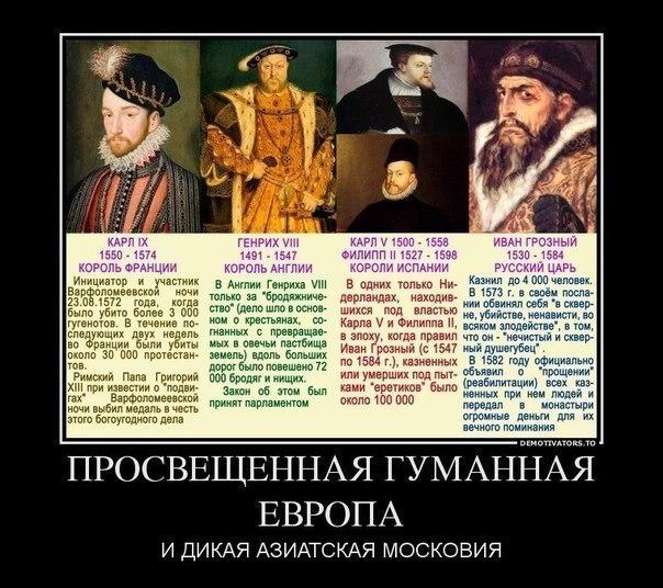 просвещённая Европа и дикая Московия