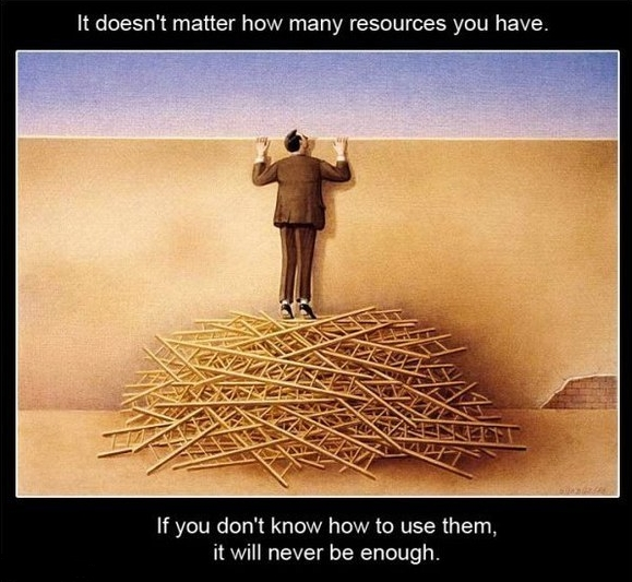 неважно, сколько ресурсов есть