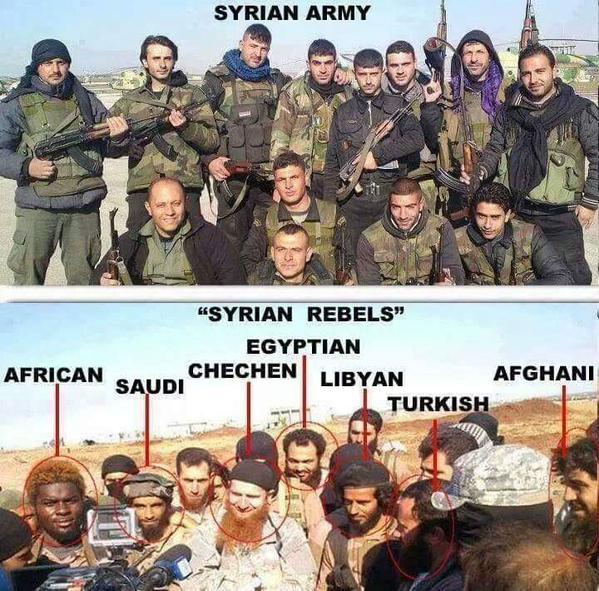 сирийская армия и борцы за свободу
