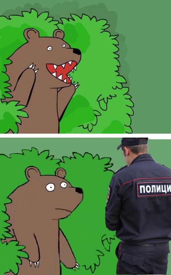 из кричит кустов медведь шлюха фотка