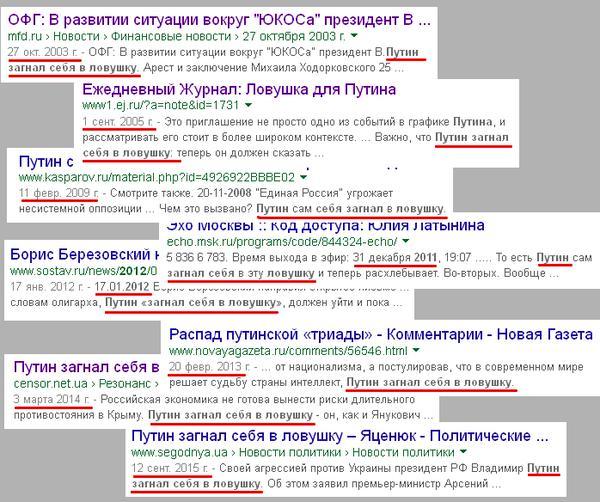 ловушки для Путина