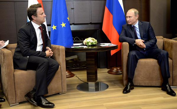 Путин и премьер Люксембурга Ксавье Беттель
