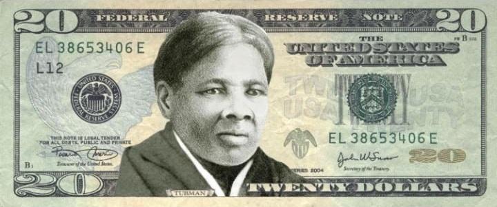новые доллары с Гарриет Табмен